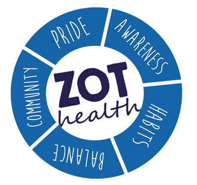 Zot Health: Community, Pride, Awareness, Habits, Balance