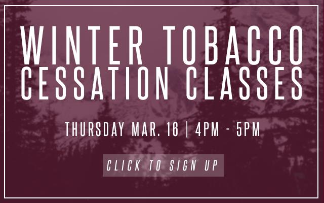 Winter 2017 Tobacco Cessation Classes
