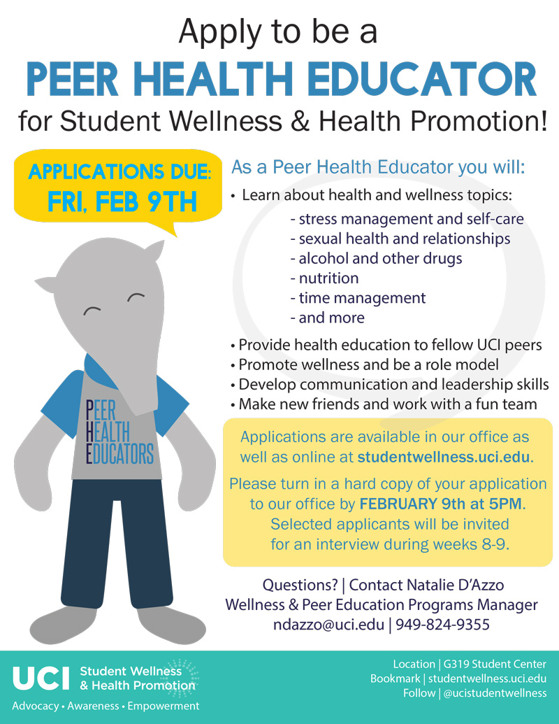 Apply to be a PEER HEALTH EDUCATOR