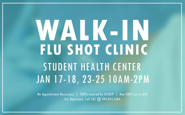 Walk In Flu Clinic Slider