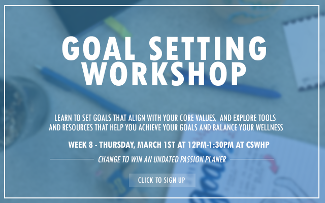 Goal setting workshop 2018