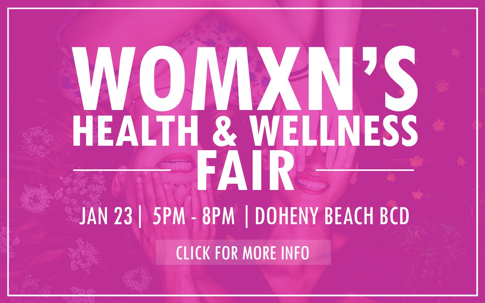 Womxn's Health Fair Website Slider