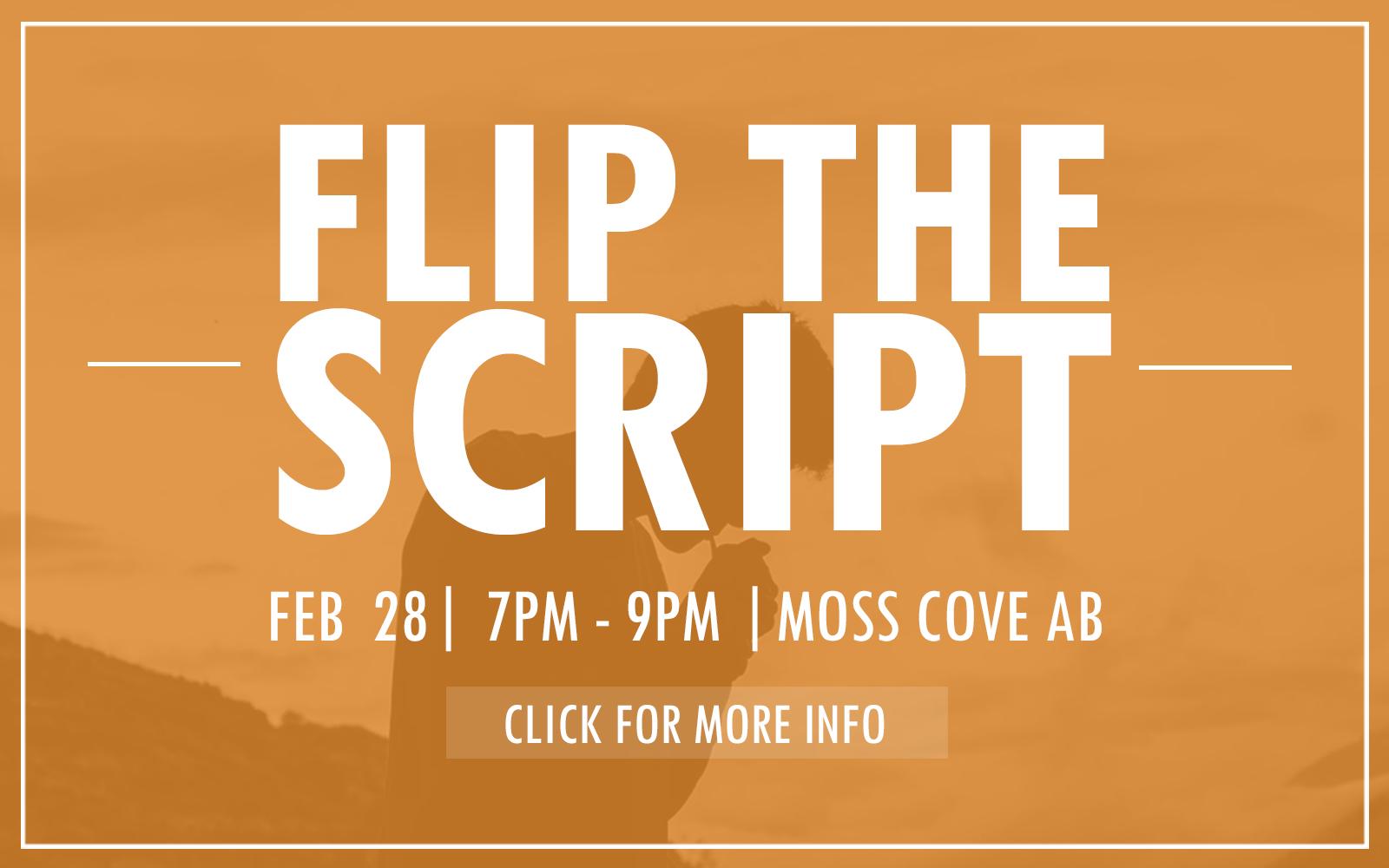 Flip the Script Website Slider