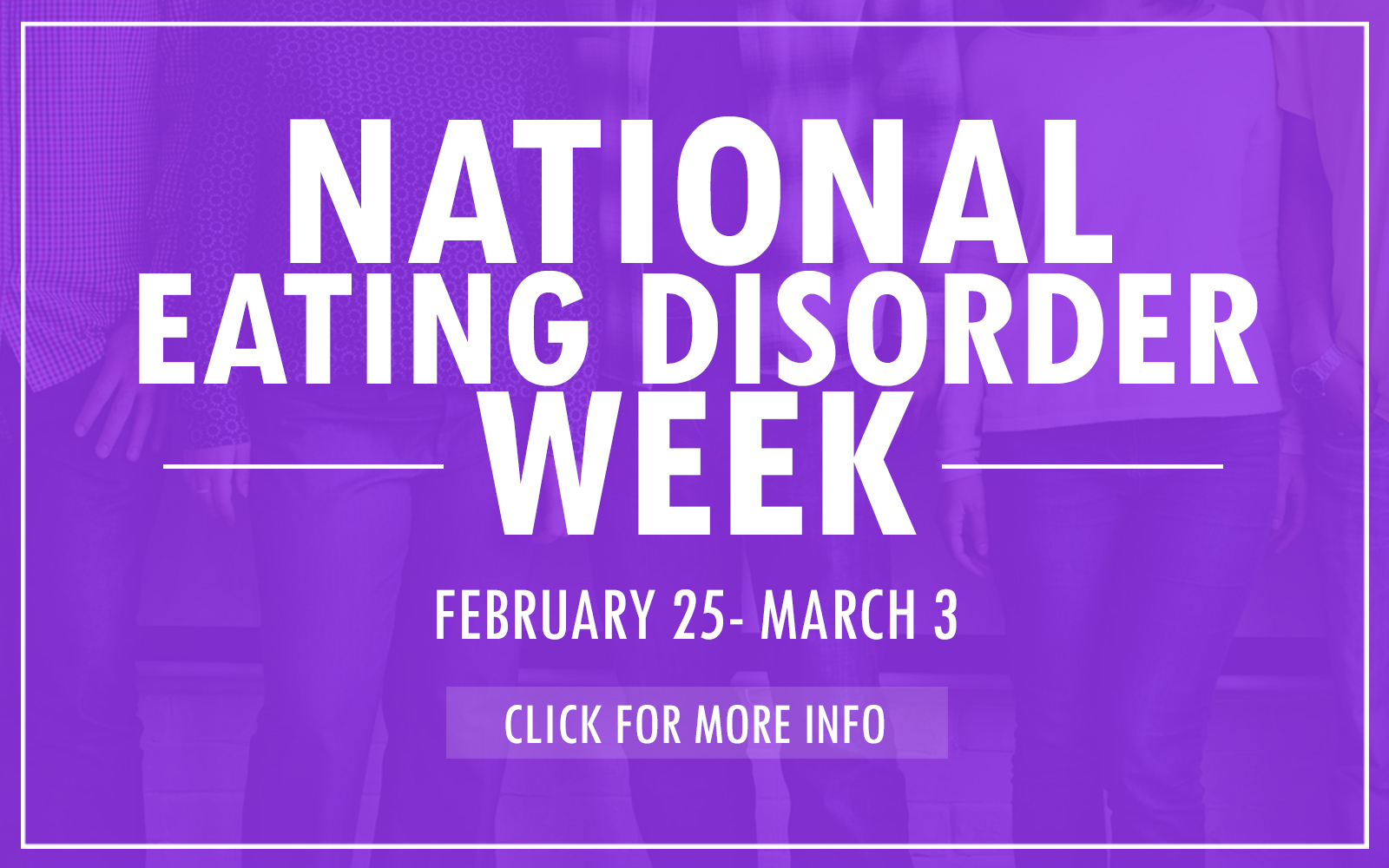 National Eating Disorder Week Website Slider