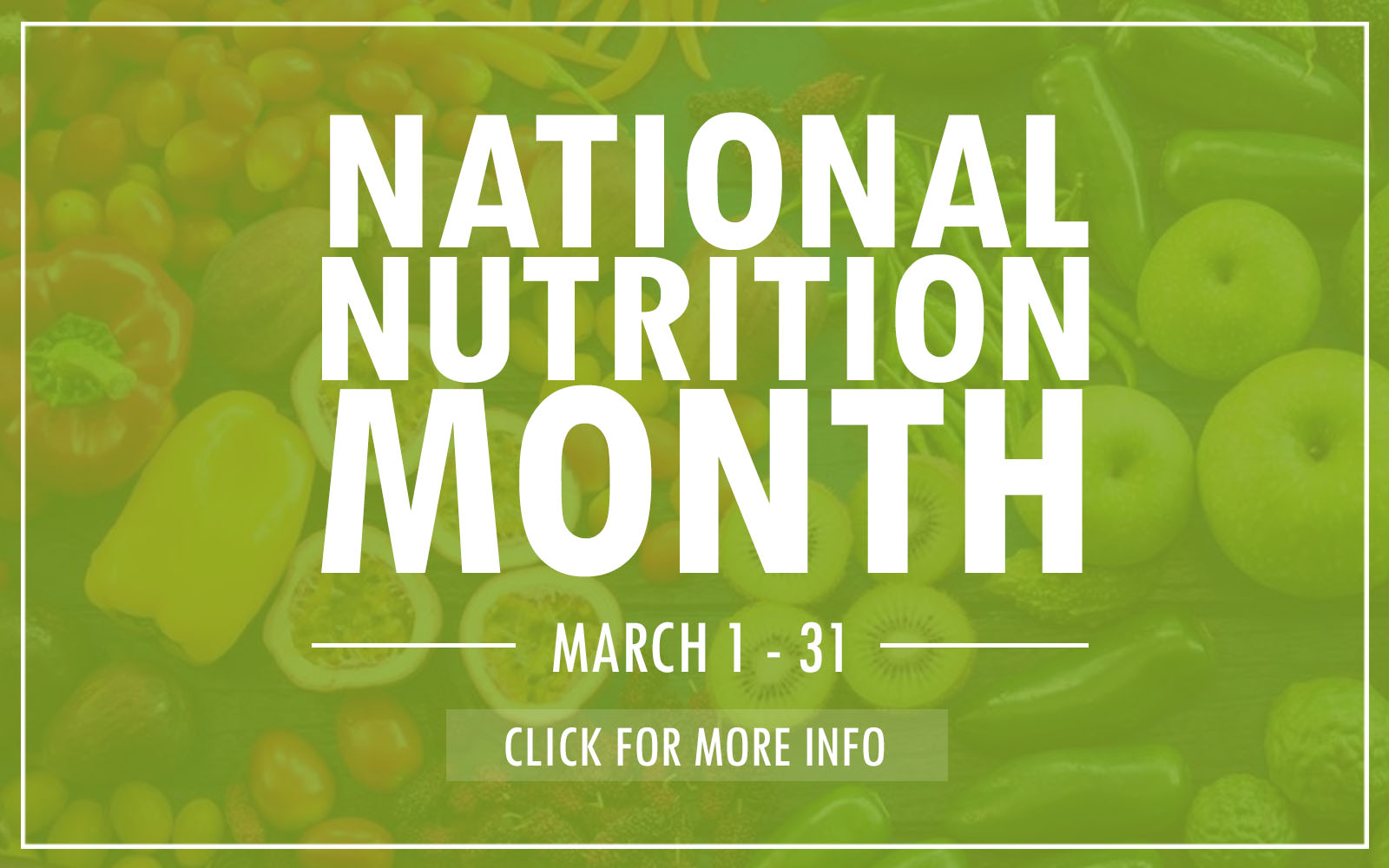National Nutrition Month Website Slider